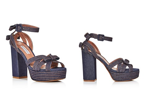Tabitha Simmons Women's Goldy Denim Platform High-Heel Sandals - Bloomingdale's_2
