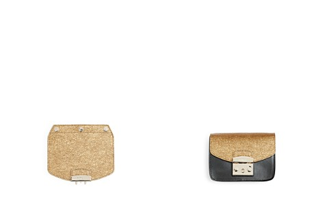 Furla MY PLAY Interchangeable Metropolis Mini Leather Glitter Flap - Bloomingdale's_2