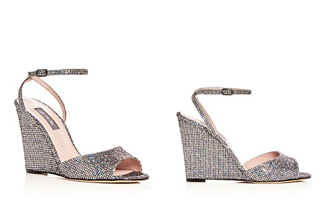 SJP by Sarah Jessica Parker Women's Boca Glitter Ankle Strap Wedge Sandals - Bloomingdale's_2