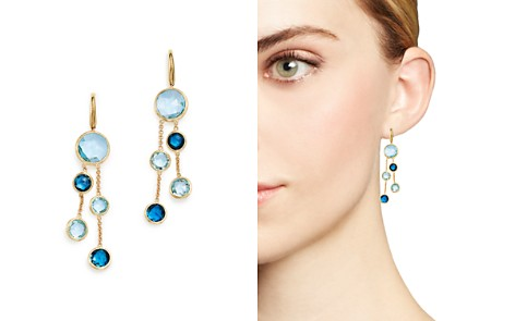 Marco Bicego 18K Yellow Gold Jaipur Mixed Blue Topaz Double Strand Earrings - 100% Exclusive - Bloomingdale's_2