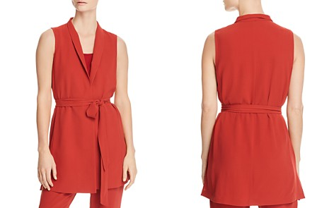 Eileen Fisher Long Silk Wrap Vest - 100% Exclusive - Bloomingdale's_2