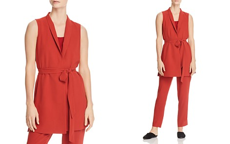 Eileen Fisher Petites Silk Wrap Vest - 100% Exclusive - Bloomingdale's_2