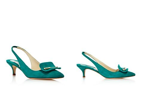 Brian Atwood Women's Giulia Suede Slingback Kitten Heel Pumps - Bloomingdale's_2