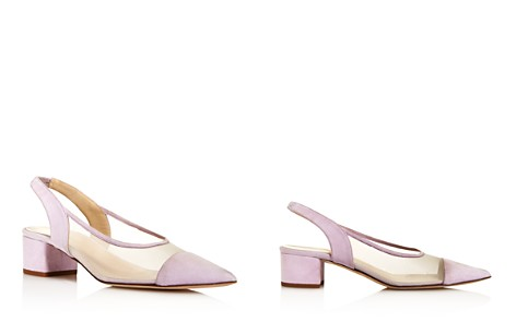 Creatures of Comfort Women's Gloria Leather & Mesh Color-Block Slingback Pumps - Bloomingdale's_2
