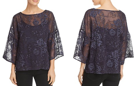 VINCE CAMUTO Embroidered Drop-Shoulder Top - 100% Exclusive - Bloomingdale's_2