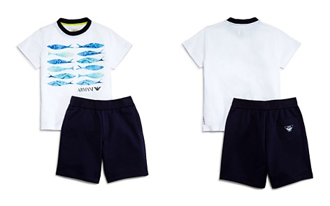 Armani Junior Boys' Fish Tee & Shorts Set - Little Kid, Big Kid - Bloomingdale's_2