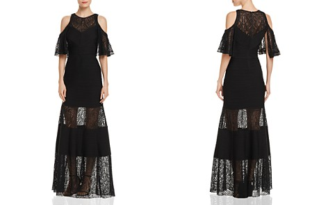 Tadashi Shoji Cold-Shoulder Lace Dress - Bloomingdale's_2