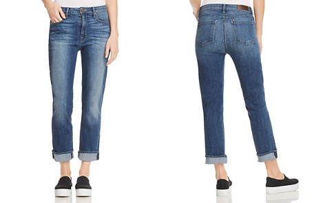 Parker Smith Pinup Straight Cropped Jeans in Dark Sea - Bloomingdale's_2