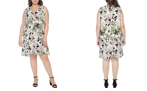 B Collection by Bobeau Curvy Iban Floral-Print Shift Dress - Bloomingdale's_2