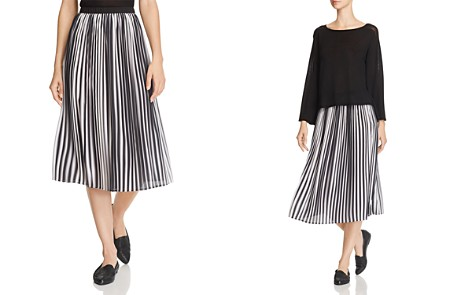 Eileen Fisher Pleated Ombré Skirt - Bloomingdale's_2
