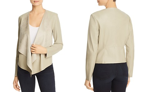 Bagatelle Draped Faux Leather Jacket - Bloomingdale's_2