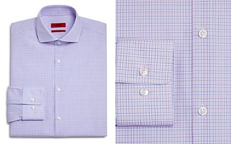 HUGO Check Regular Fit Dress Shirt - Bloomingdale's_2