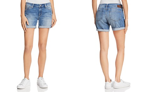 Mavi Pixie Mid Rise Denim Shorts in Light Distressed Vintage - Bloomingdale's_2