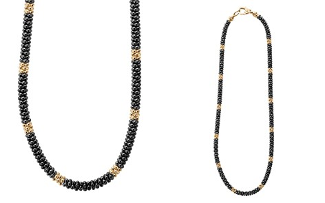 "LAGOS Gold & Black Caviar Collection 18K Gold & Ceramic Rope Necklace, 18"" - Bloomingdale's_2"