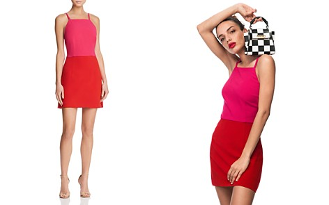FRENCH CONNECTION Color-Blocked A-Line Dress - 100% Exclusive - Bloomingdale's_2