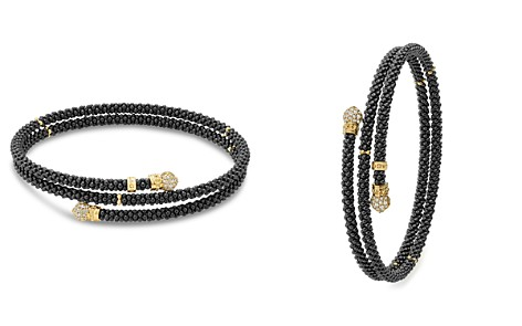 LAGOS Gold & Black Caviar Collection 18K Gold & Diamond Coil Bracelet - Bloomingdale's_2