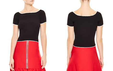 Sandro Ouma Cropped Ribbed Sweater - Bloomingdale's_2