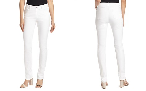 Lafayette 148 New York Thompson Chevron-Textured Jeans in White - Bloomingdale's_2