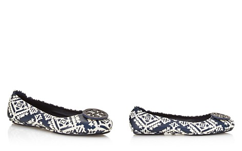 Tory Burch Women's Minnie Printed Leather Travel Ballet Flats - Bloomingdale's_2