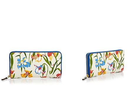 Tory Burch Printed Floral Continental Leather Wallet - Bloomingdale's_2