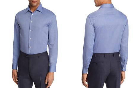 Emporio Armani Tonal Cross Stitch Regular Fit Button-Down Shirt - Bloomingdale's_2