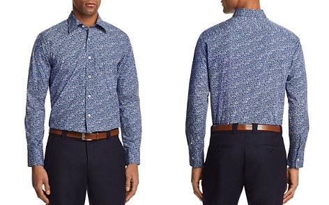 Canali Micro Floral Regular Fit Button-Down Shirt - Bloomingdale's_2