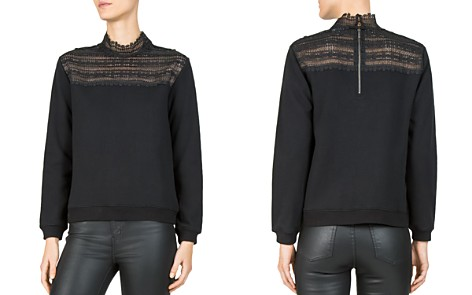 The Kooples Lace-Inset Sweatshirt - Bloomingdale's_2