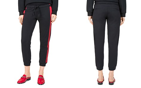 The Kooples Striped Cropped Jogger Pants - Bloomingdale's_2