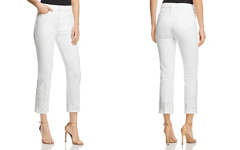 Tory Burch Keira Straight-Leg Jeans in White Rinse Wash - Bloomingdale's_2