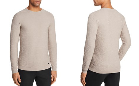 Emporio Armani Solid Textured Knit Sweater - Bloomingdale's_2