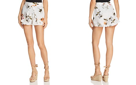 Re:Named Ruffled Floral Mini Shorts - Bloomingdale's_2