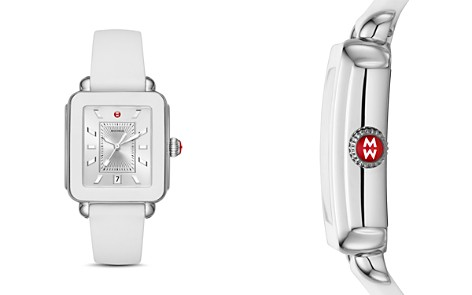 MICHELE Deco White Bezel Sport Watch, 34mm x 36mm - Bloomingdale's_2