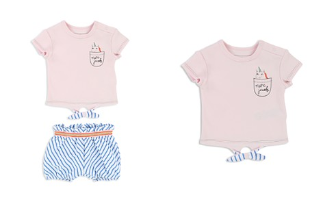Little Marc Jacobs Girls' Unicorn Tee & Striped Shorts Set - Baby - Bloomingdale's_2