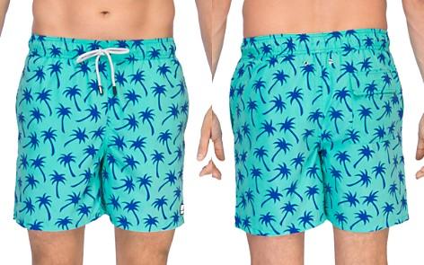 TOM & TEDDY Palm Print Swim Trunks - Bloomingdale's_2