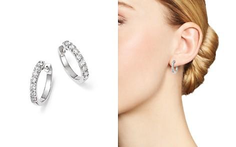 Bloomingdale's Diamond Small Hoop Earrings in 14K White Gold, 0.70 ct. t.w. - 100% Exclusive _2