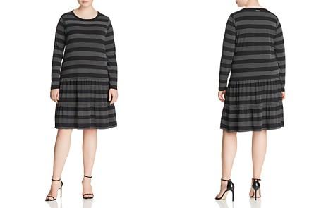 MICHAEL Michael Kors Plus Dotted-Stripe Drop-Hem Ruffle Dress - Bloomingdale's_2