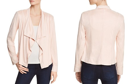 Donna Karan New York Faux-Suede Draped Open-Front Jacket - Bloomingdale's_2