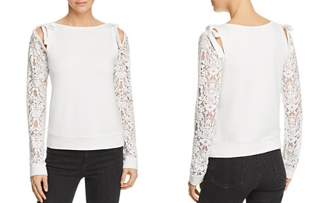 Bailey 44 Sentimental Lace-Sleeve Sweater - Bloomingdale's_2