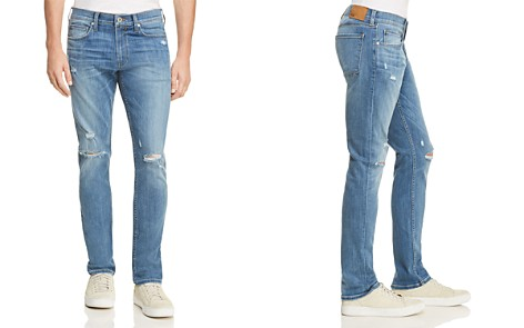 PAIGE Transcend Lennox Skinny Fit Jeans in Cartwright Destructed - Bloomingdale's_2