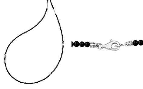 "LAGOS Sterling Silver Caviar Icon Onyx Five Station Strand Necklace, 34"" - Bloomingdale's_2"