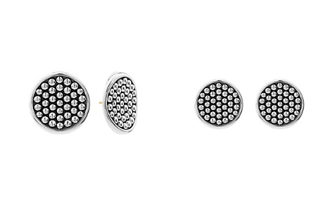 LAGOS Sterling Silver Bold Caviar Button Earrings - Bloomingdale's_2