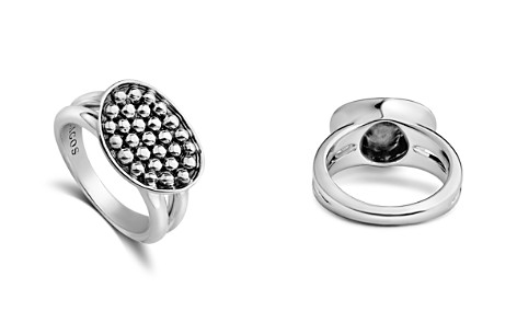 LAGOS Sterling Silver Bold Caviar Horizontal Ellipse Ring - Bloomingdale's_2