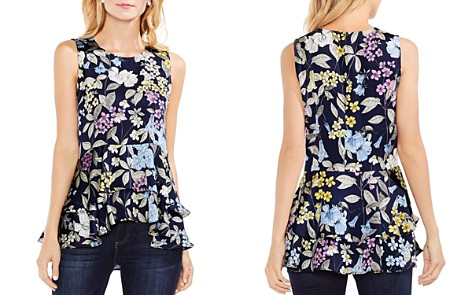 VINCE CAMUTO Floral Tiered-Peplum Top - Bloomingdale's_2