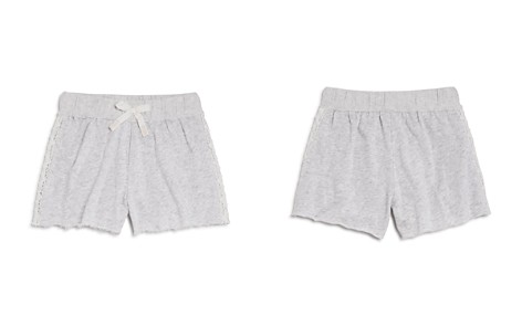 Splendid Girls' French Terry Shorts with Lace Panels - Big Kid - Bloomingdale's_2
