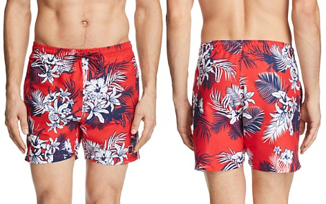 BOSS Tropical Print Swim Trunks - Bloomingdale's_2