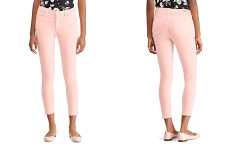 Lauren Ralph Lauren High-Rise Skinny Crop Frayed-Hem Jeans in Pink - Bloomingdale's_2