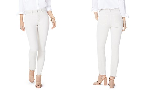 NYDJ Petites Sheri Frayed-Hem Slim Ankle Jeans in Feather - Bloomingdale's_2