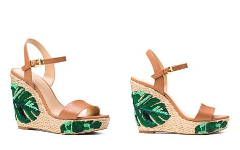 MICHAEL Michael Kors Women's Jill Beaded Leather Platform Wedge Sandals - 100% Exclusive - Bloomingdale's_2