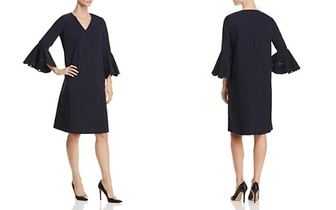 Lafayette 148 New York Holly Embroidered Bell Sleeve Dress - Bloomingdale's_2