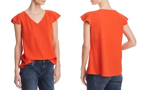 Eileen Fisher Silk Flutter-Sleeve Top - 100% Exclusive - Bloomingdale's_2
